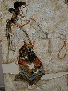 Malowidło kultury kreteńskiej (minojskiej)